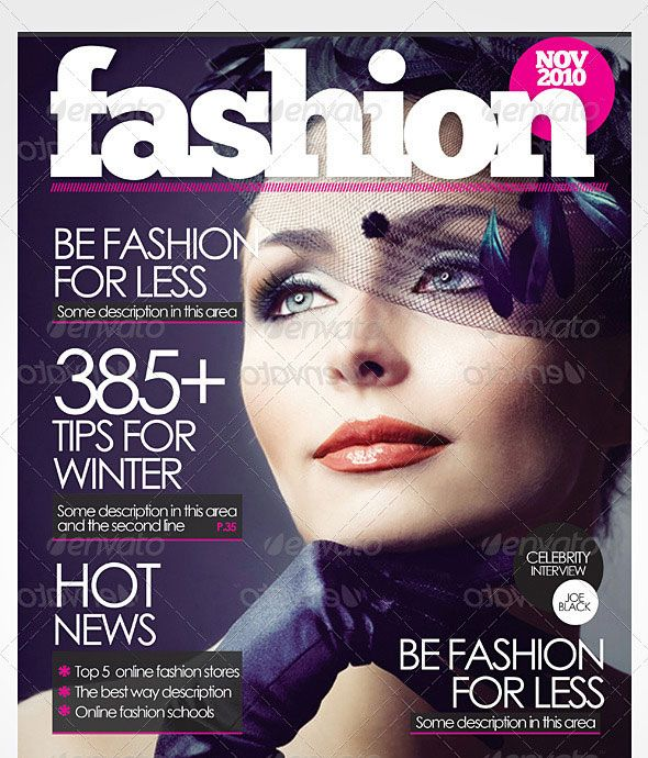 50 InDesign & PSD Magazine Cover & Layout Templates | Magazine cover ...