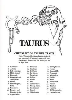 astrology taurus traits