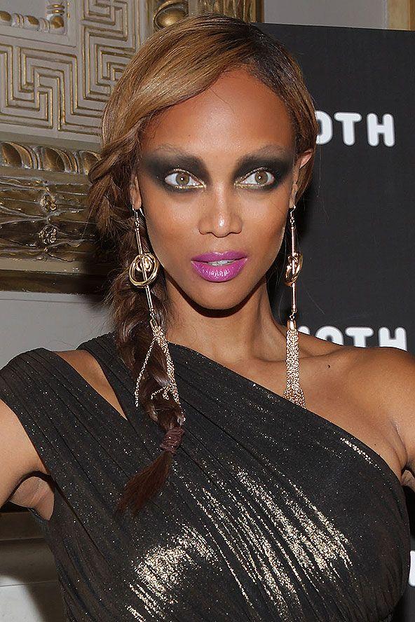 Ooosh Tyra! Tyra, Hoop earrings, Tyra banks