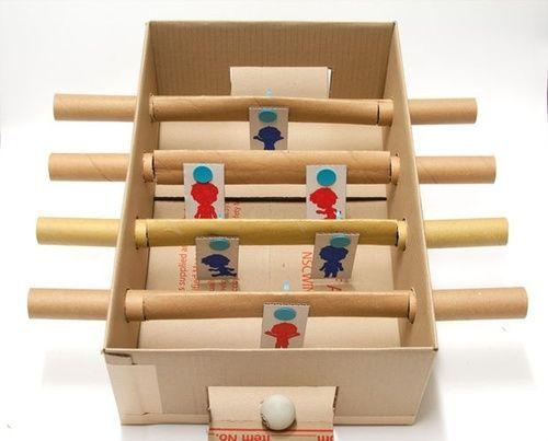 Juguete Para Ninos Futbolin De Carton Manualidades Recicladas Manualidades Juguetes Juguetes Para Ninas