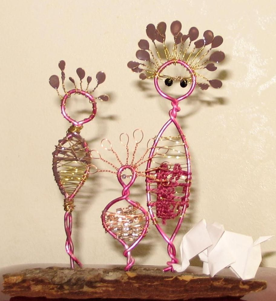 Drahtfiguren - Wire | Basteln | Pinterest | Draht, Kunst und Basteln