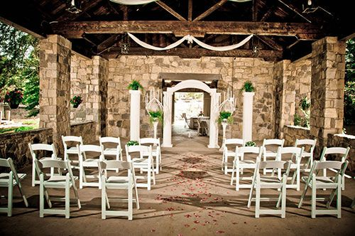 Stone Pavilion Ceremony We Have To Rent The Arches Columns