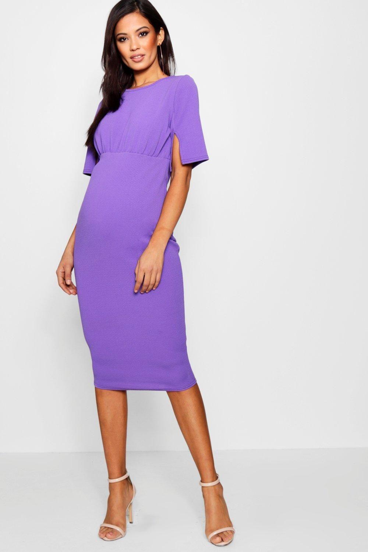 8bcd667fc6bef Maternity Split Sleeve Wiggle Midi Dress | pregnancy | Maternity ...