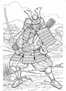 Samurai Colouring pages printables