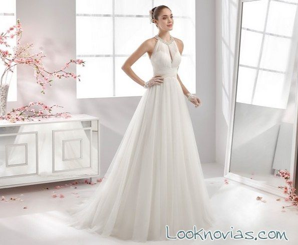vestido de novia aurora con escote halter | wedding | wedding