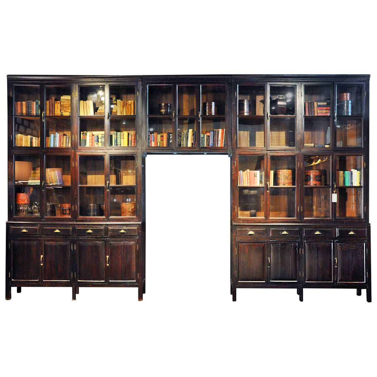 Monumental British Colonial Cabinet