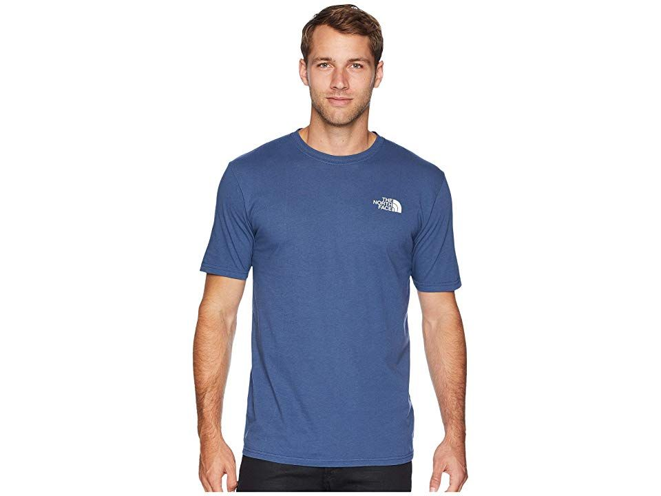 The North Face Short Sleeve Red Box Tee Shady Blue Tnf White