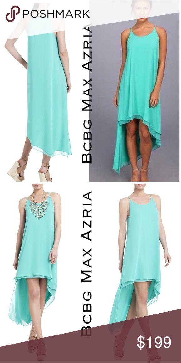 Bcbg Max Azria Lienna High Low Tank Dress Dresses Bcbgmaxazria Dresses Bcbg Dresses