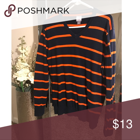 Blue and orange men's sweater