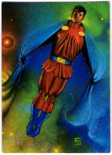 11-Valor    En el siglo XX, las habilidades superhumanas de Lar Gand Daxamita, lograron colonizar mundos que después de algunas generaciones dieron nacimiento a varios de los Legionarios… hasta que Glorith mató a Valor antes de lograr sus objetivos. Para preservar el futuro, un Valor del Siglo XXX viajó a través del tiempo para aliviar su esperando destino: el destierro de mil años a la zona crepuscular. Solo el tiempo dirá si lo logró.