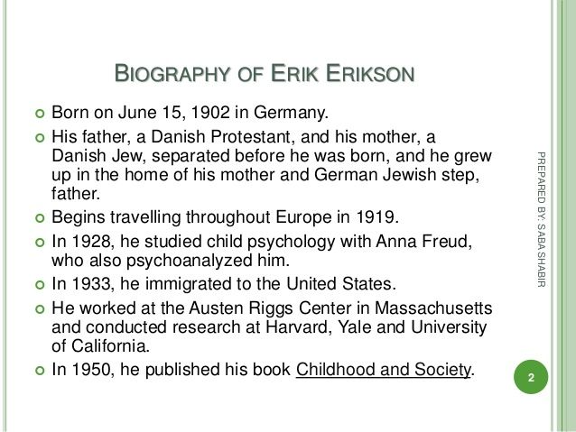 Essay On Erik Eriksons Stages Of Development  Experts Opinions