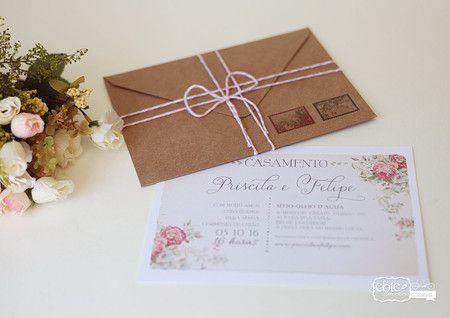 Carta De Amor 21 9x15 6cm Chic No Ultimo Convite De