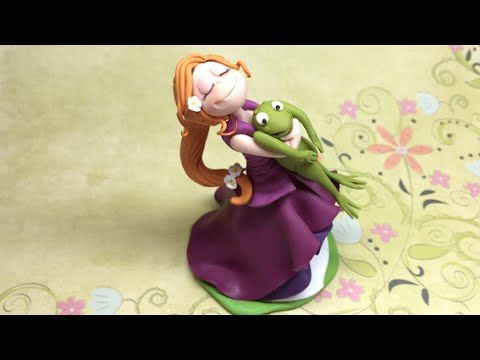 ▶ Princess and the frog/Princesa e o sapo- Polymer clay (Fimo) - YouTube