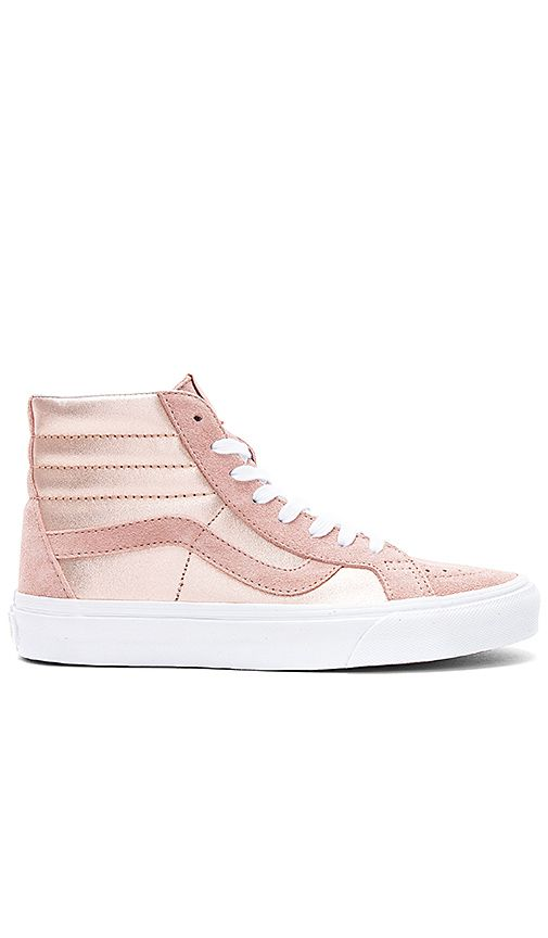 4bbdb734ac Shop for Vans 2-Tone Metallic Sk8-Hi Reissue Sneaker in Mahogany Rose