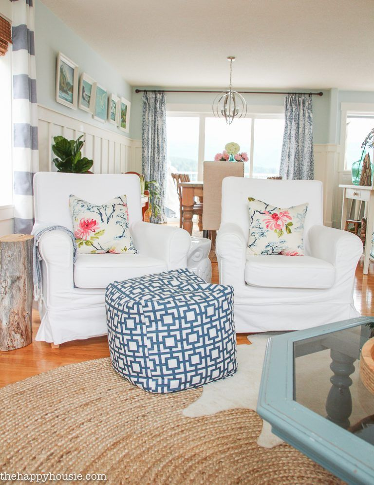 Lake House Summer Home Tour Part Two: Our Living Room & Kitchen images