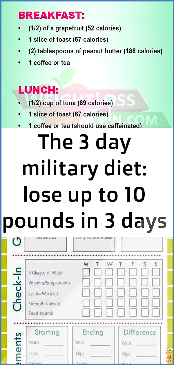 The 3 day military diet lose up to 10 pounds in 3 days 22 The 3 day military diet lose up to 10 poun...