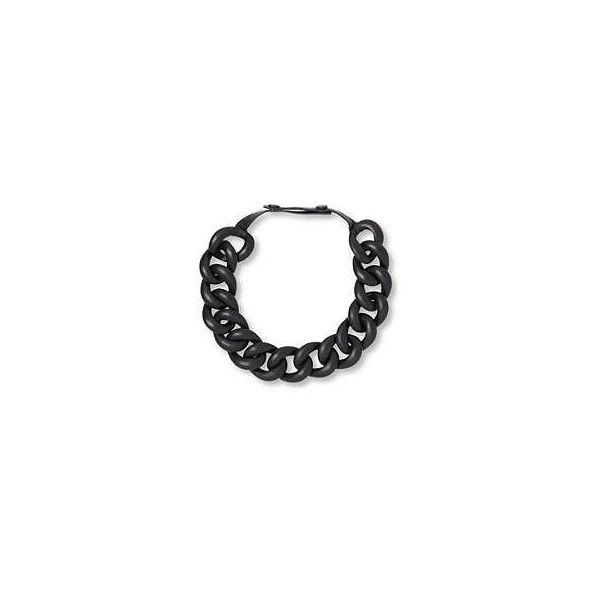 Shoker medium-link leather necklace NATALIA BRILLI ❤ liked on Polyvore