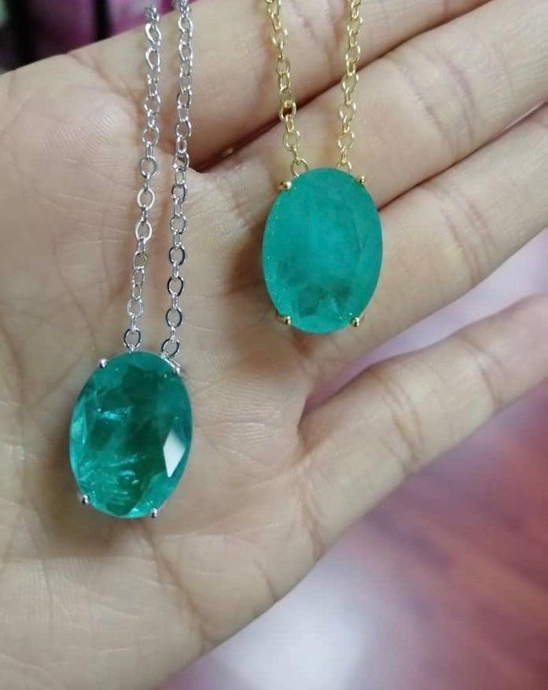 Green Fluorite Jewelry Set Green Fluorite Gemstone Birthstone-Green Fluorite teardrop Necklace For Woman Fluorite Pendant Dangle Earrings