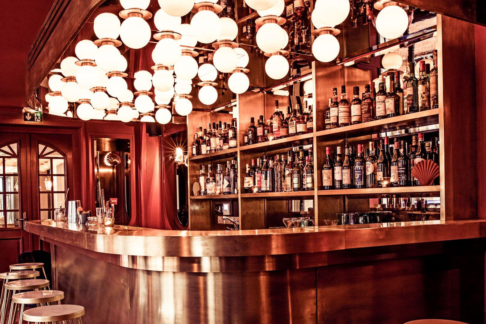 Hotel Grands Boulevards Hotel Bar Restaurant Interior Green Granite