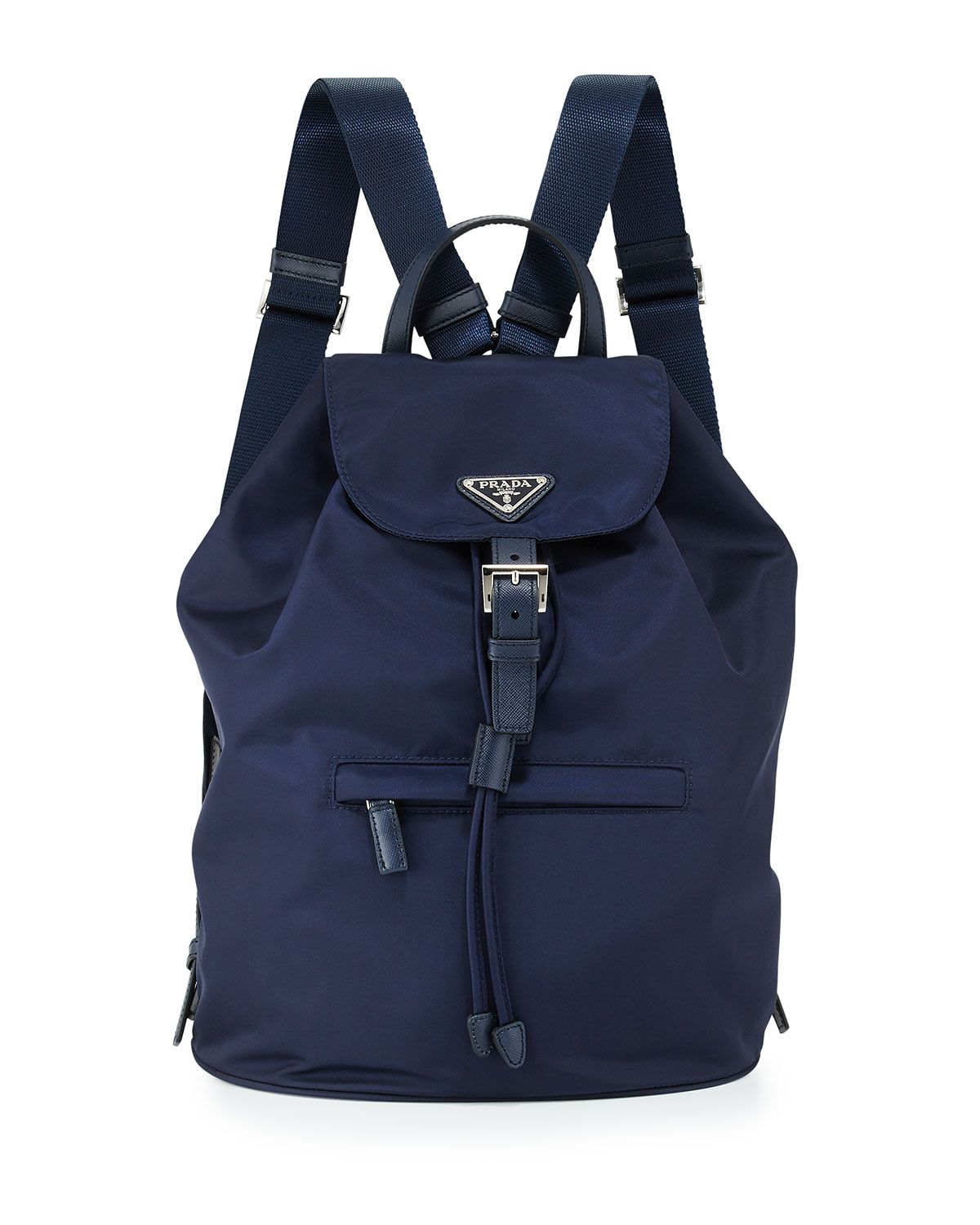 2e501901c19451 Large Nylon Flap-Top Backpack Blue (Baltico) | *Luggage & Bags ...