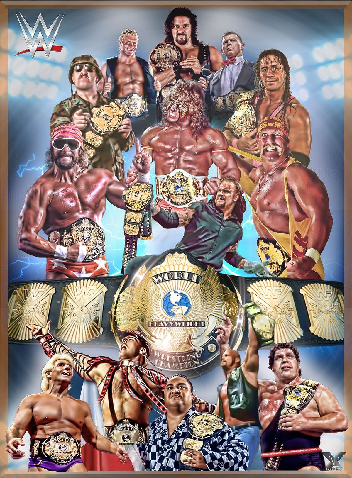 Wwf 90s Winged Eagle Champs Wrestling Wwe Wrestling Posters
