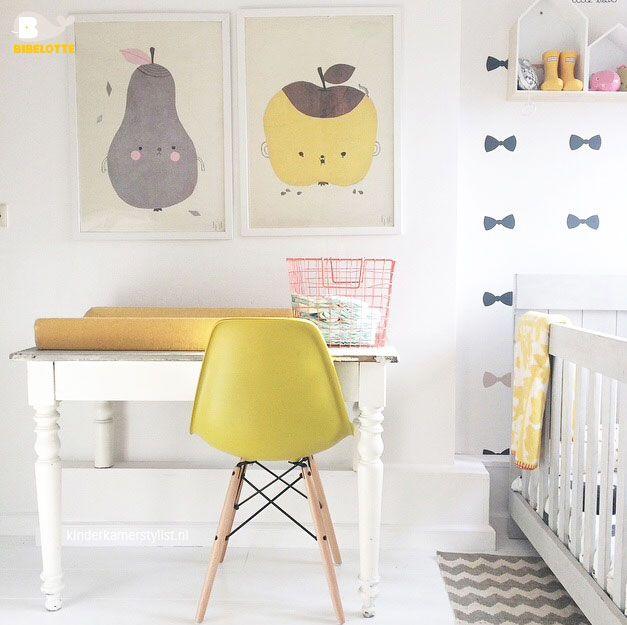 Petites touches de jaune égayer une chambre d\u0027enfant moderne Kids