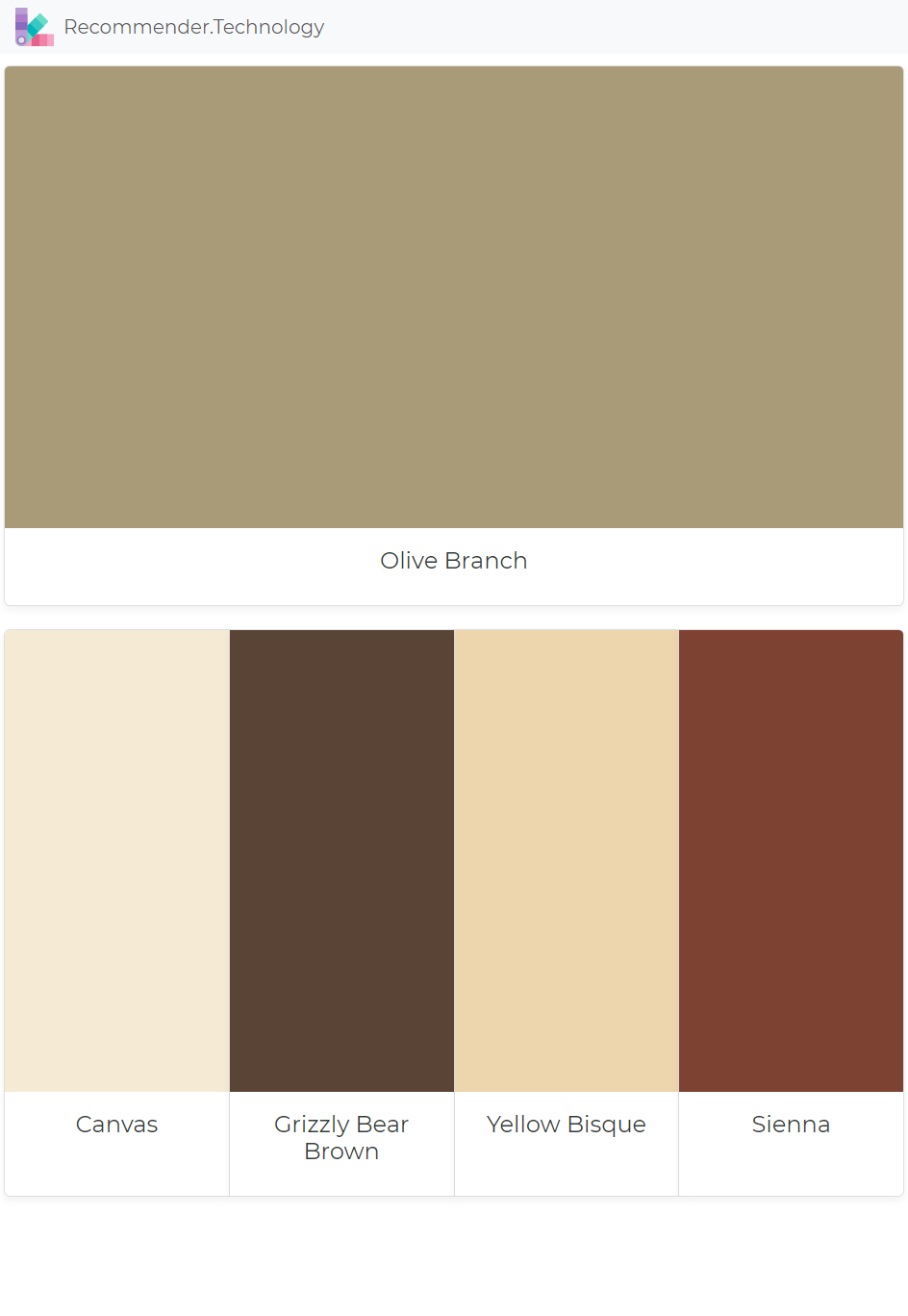 Olive Branch Canvas Grizzly Bear Brown Yellow Bisque Sienna Green Exterior Paints House Paint Color Combination House Paint Exterior