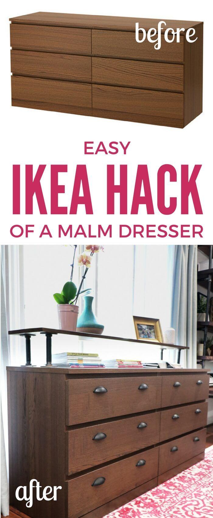The Easiest Ikea Malm Hack Ever Repurposed Diy Mobel Ikea