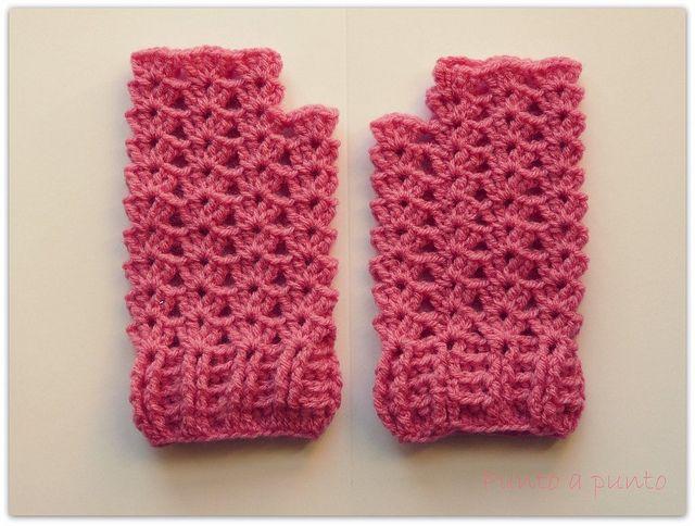 Punto a punto: Blog de manualidades y labores: Mitones de crochet ...
