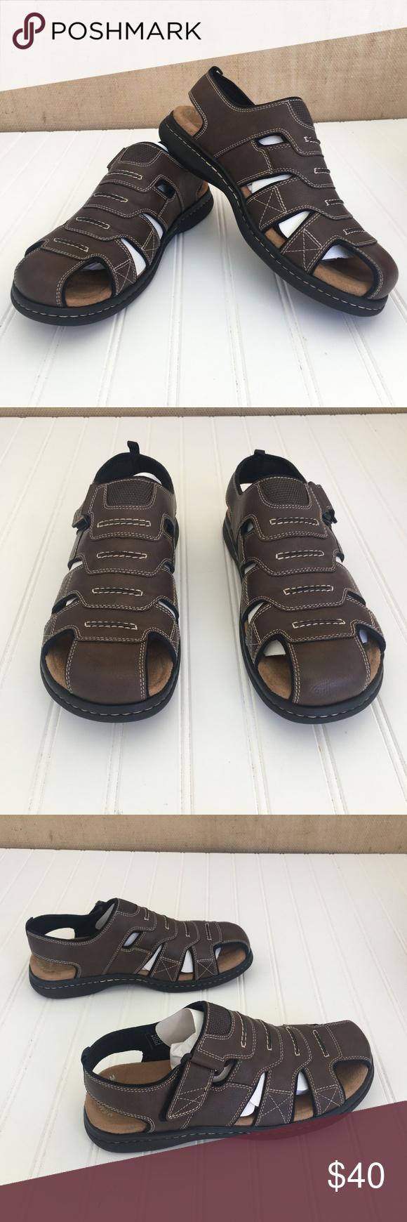 Dockers Searose Briar Brown Sport Sandal Shoe 11 M Nwt