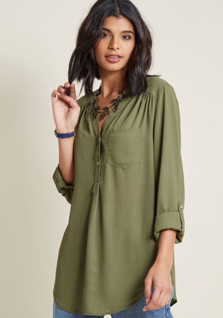 79b104032 Pam Breeze-ly Long Sleeve Tunic in XS | Products | Long sleeve tunic ...