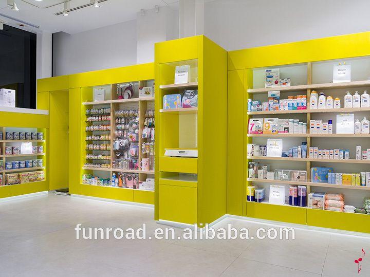 Yellow Paint Display Shelf For Pharmacy Store Showroon Buy