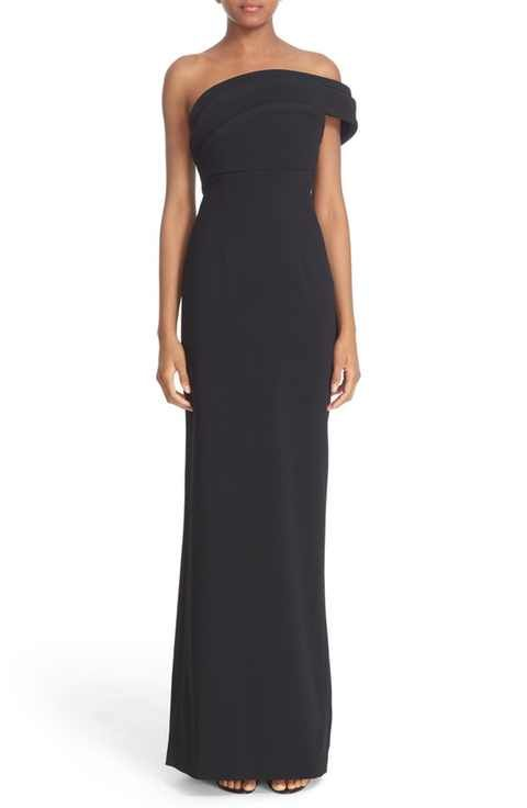 Brandon Maxwell 'Cady' Off the Shoulder Column Gown