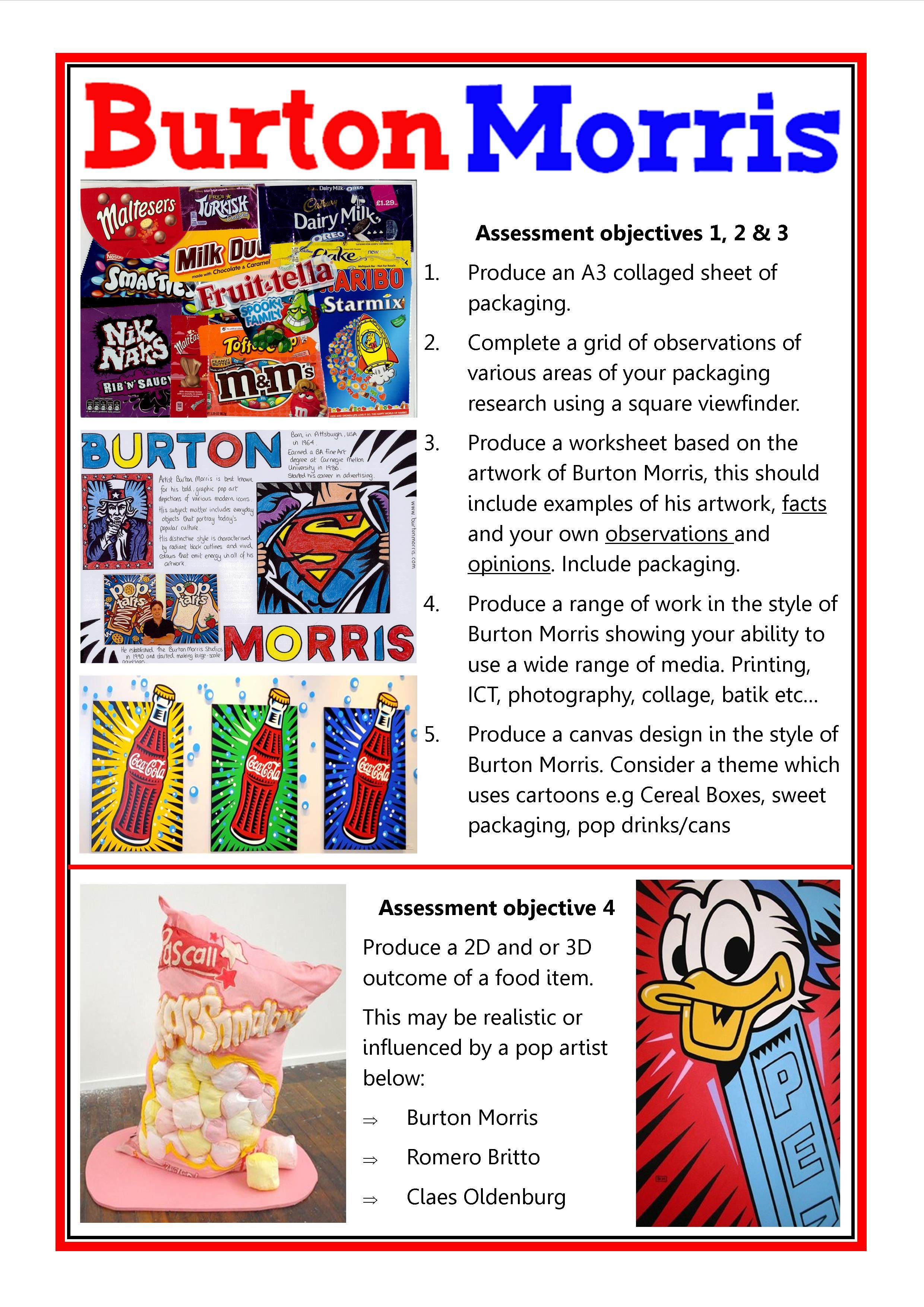 Burton Morris Extension Work Gcse Art Checklist