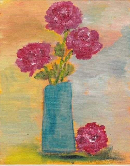 Ishita Sharma -'Blue vase' (oils) Just posting some old work till I come up with something..