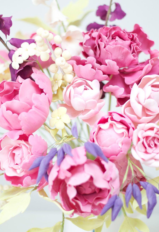 Sugar Flower Bouquet Close Up Cakes Pinterest Sugar Flowers
