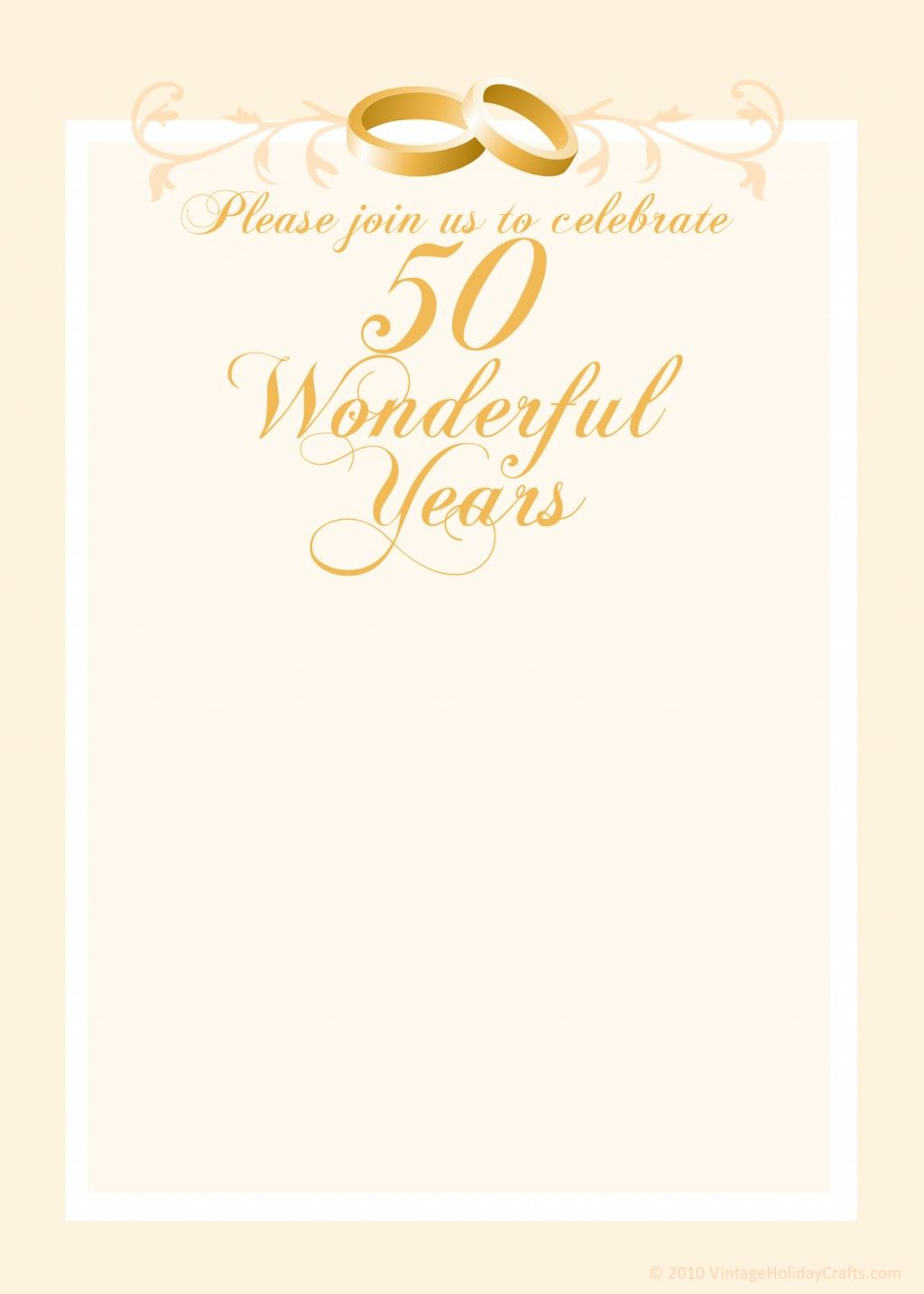 free 50th wedding anniversary invitations templates 50th wedding