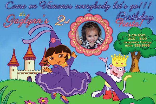 Dora Dora the Explorer Birthday Invitation Digital File 4x6 – Dora the Explorer Birthday Invitations