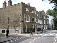 George Orwell -Laurence O'Shaughnessy's former home, the large house on the corner, 24 Crooms Hill, Greenwich, London[