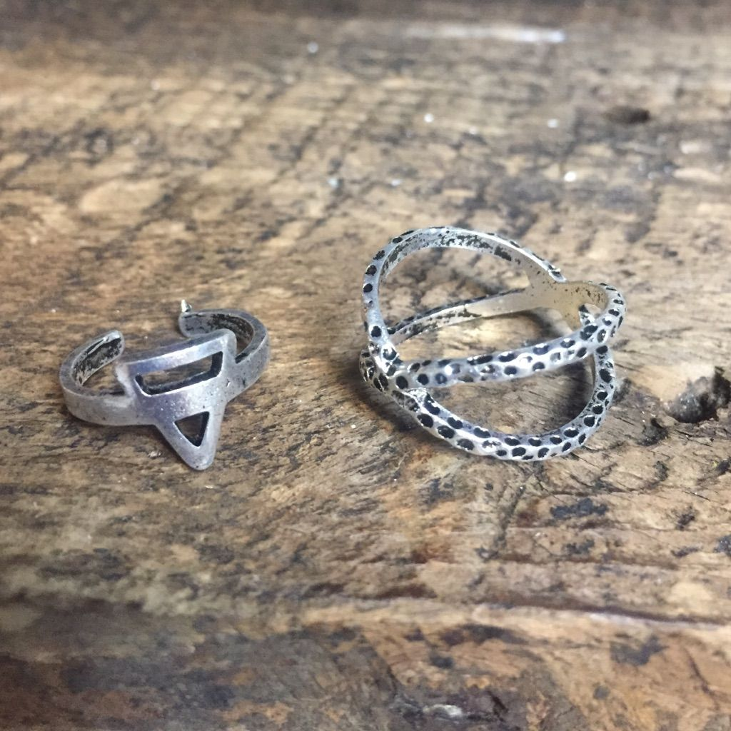 Piece silver ring set silver ring and products