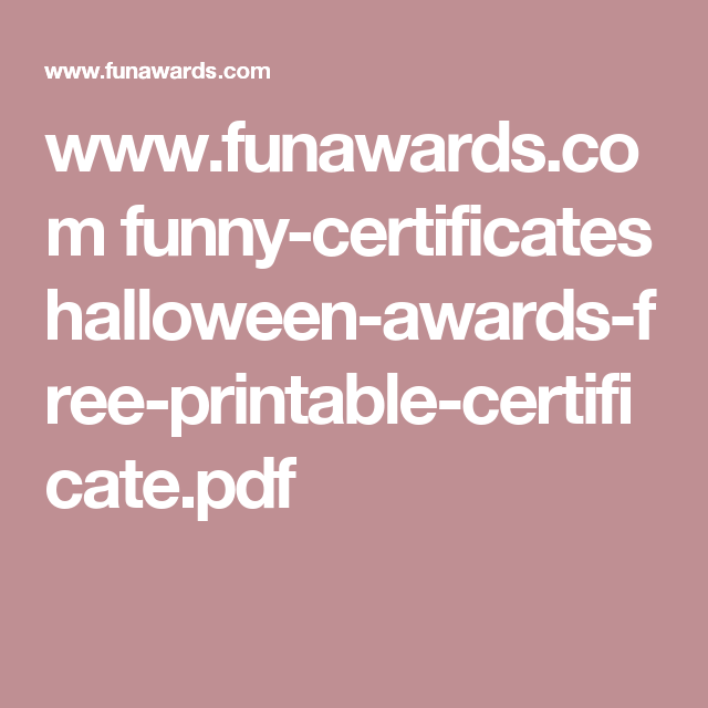Funawards funny certificates halloween awards free funawards funny certificates halloween awards free printable yelopaper Images