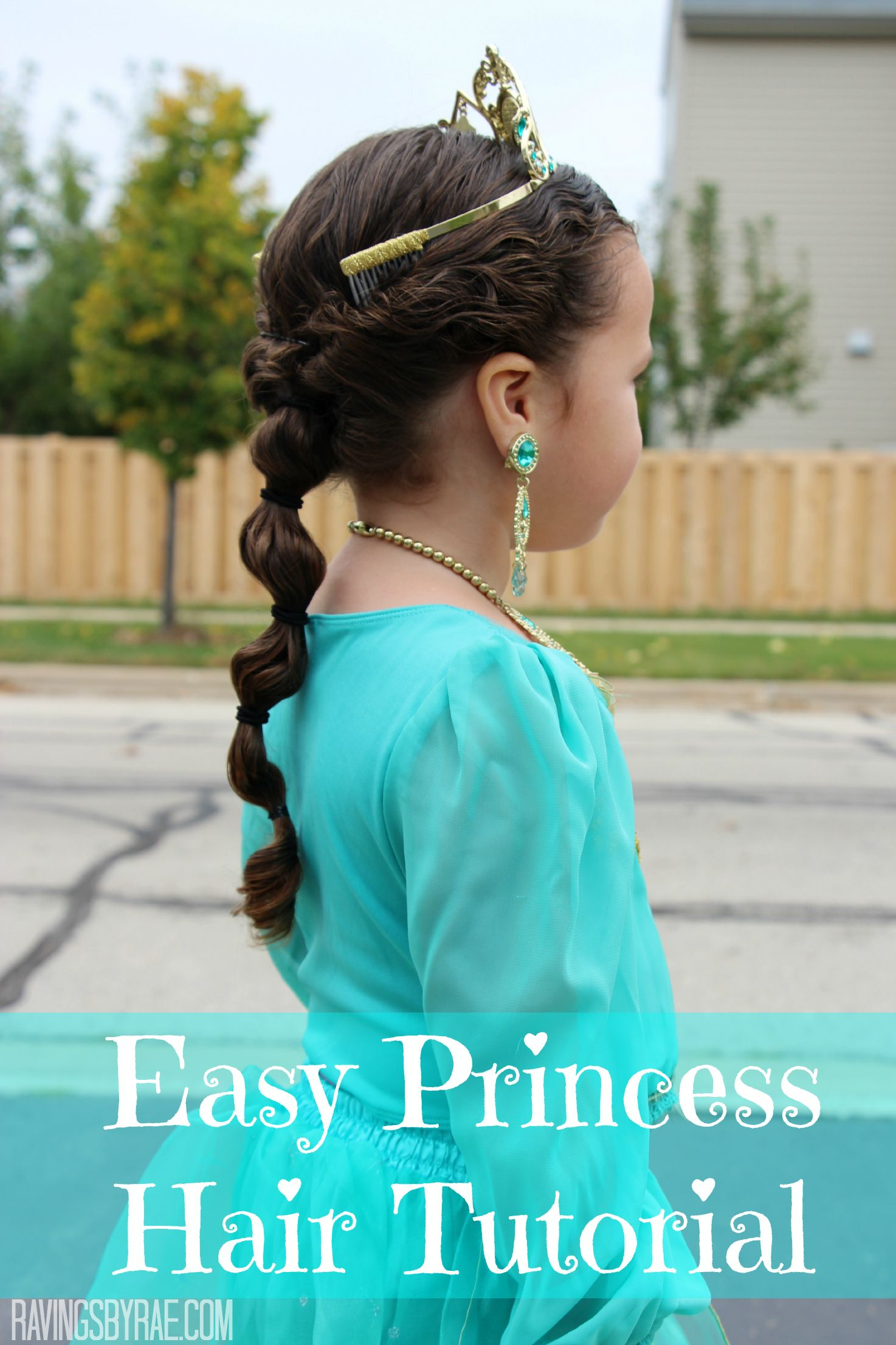 easy princess bubble braid hair