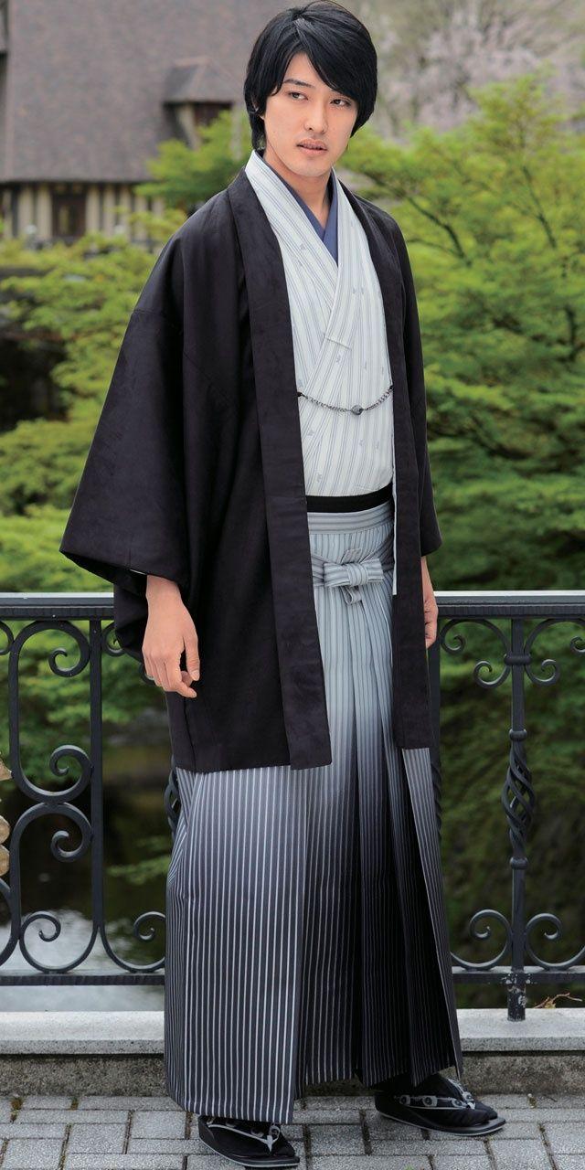 fashion shoot with traditional kimono hakama skirt and