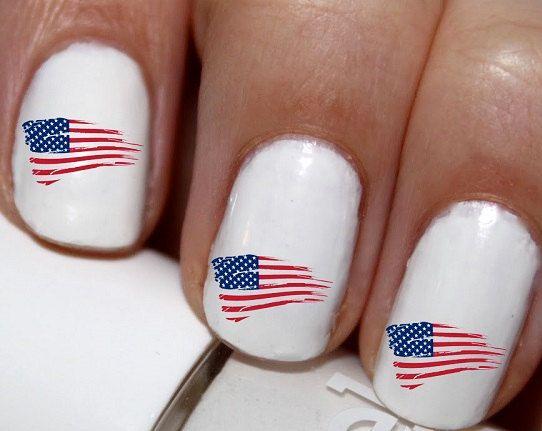 20 Pc America Flag Usa Flag Us Flag Nail Art By Easynailtrends