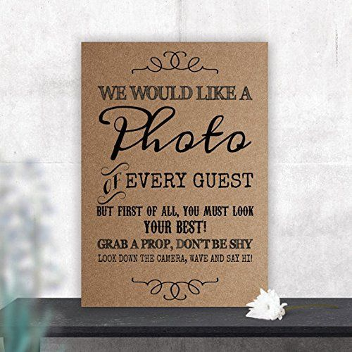 Rustic Photo Booth Table Sign For Weddings And Party Props L Brown