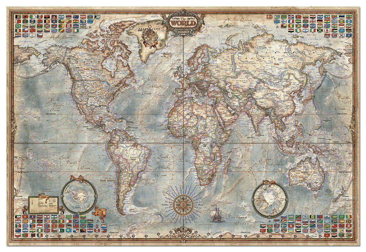 Educa 14827 the world executive map 4000 pieces genuine educa 14827 the world executive map 4000 pieces genuine puzzle amazon toys games gumiabroncs Images