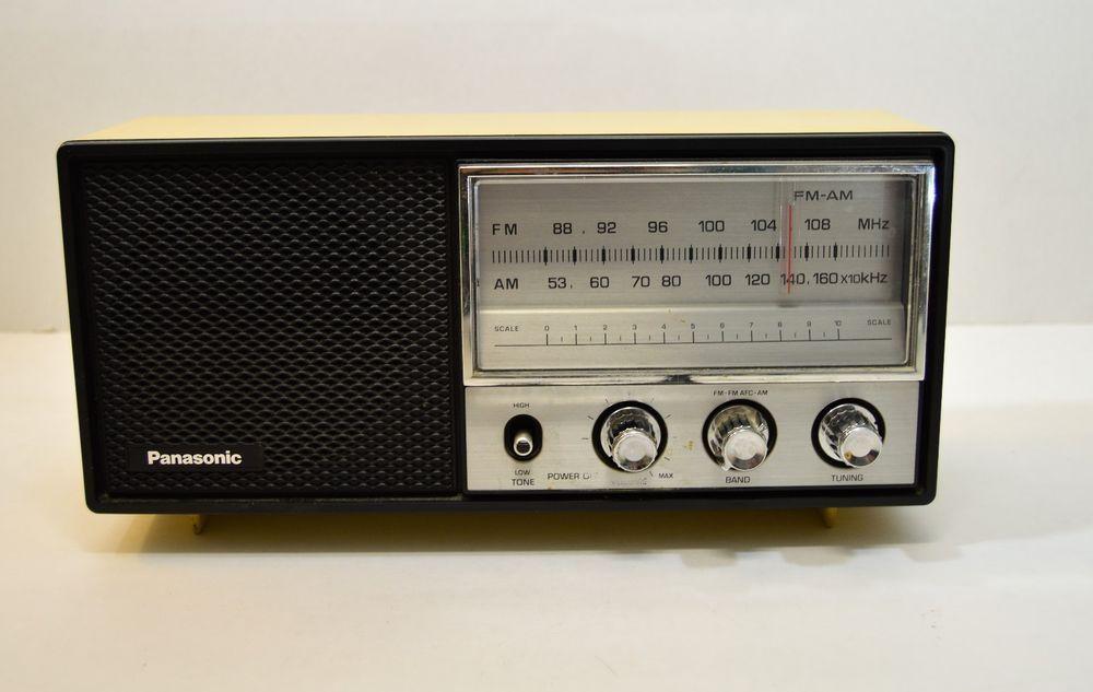 Vintage Panasonic Table Top Radio Model Re 6278 Radio Transistor Radio Vintage Antique Radio