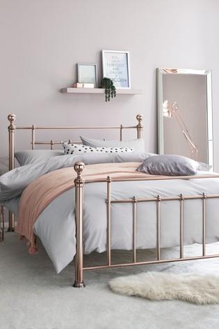 Rose Gold Leamington Bedstead Gold bed frame, Bedstead