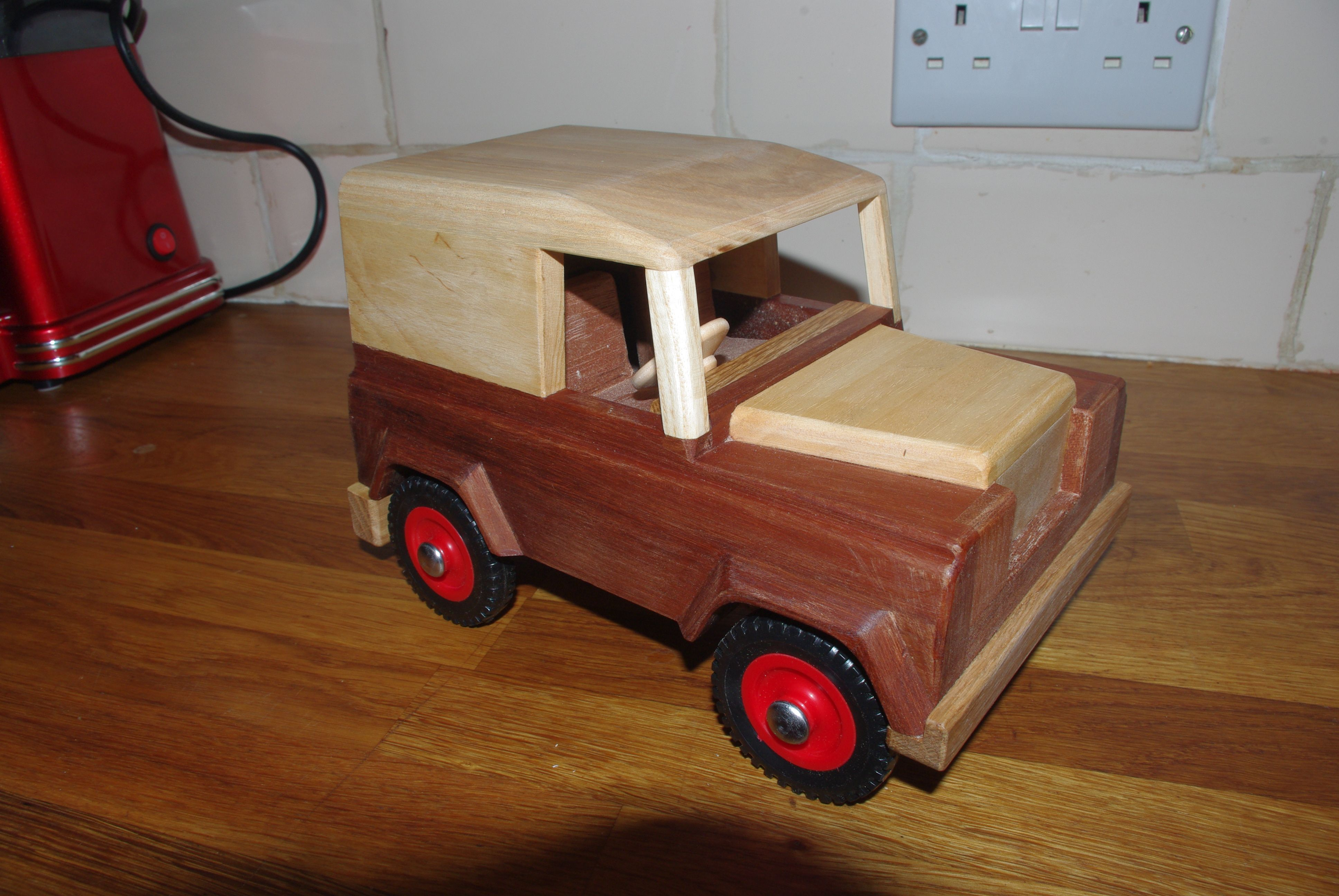 landrover defender series 4x4 off road grandad's wooden toys