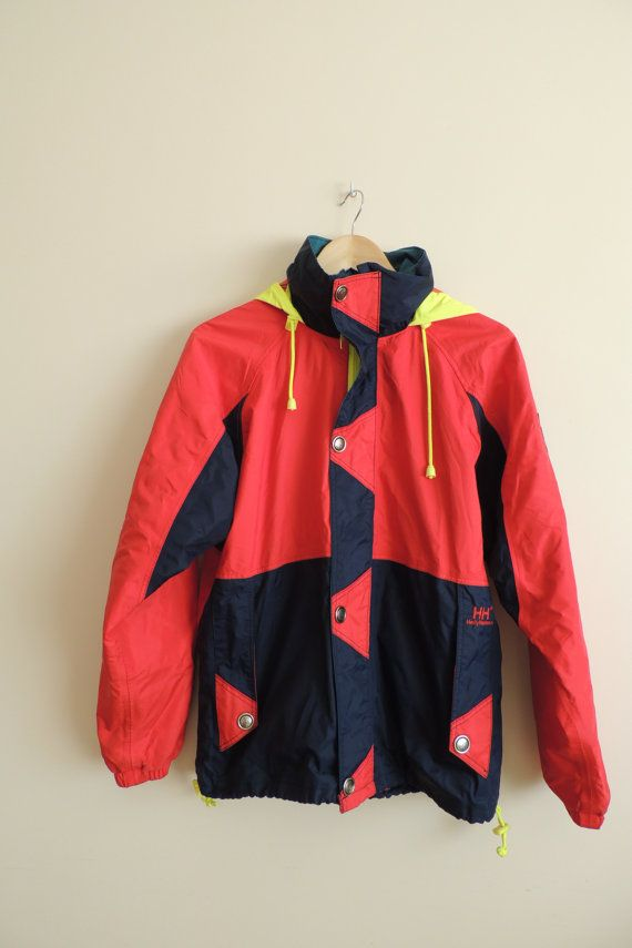 2cd4c5faf6bf1 Vintage HELLY HANSEN Red and dark blue bright yellow ski by Villma ...